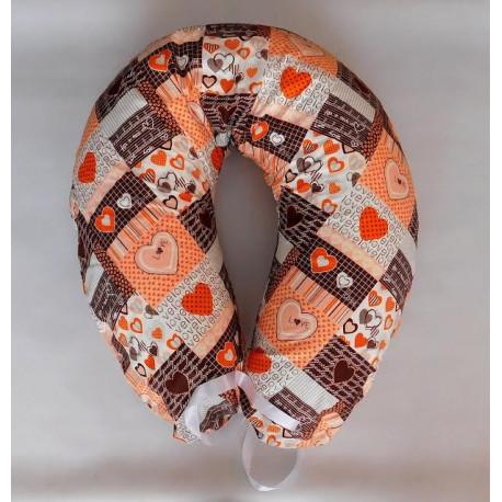 Kojenecký vankúš - oranžový