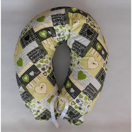 Kojenecký vankúš - zelený