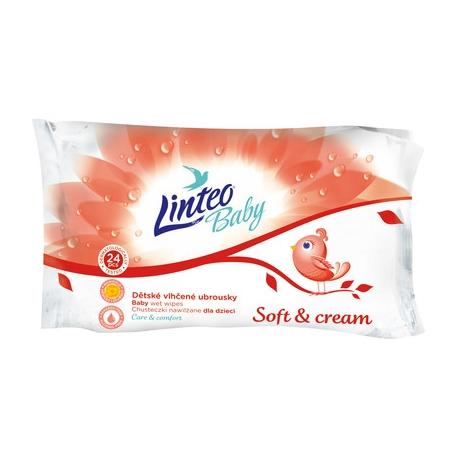 Vlhčené obrúsky LINTEO BABY Soft &amp cream