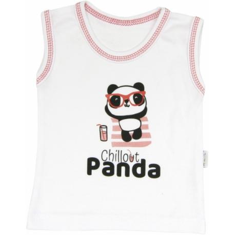 Bavlnené tielko Panda, roz. 86