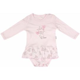 Bavlnené sukničkobody Mamatti Roztomilý Medvedík - dlhý rukáv