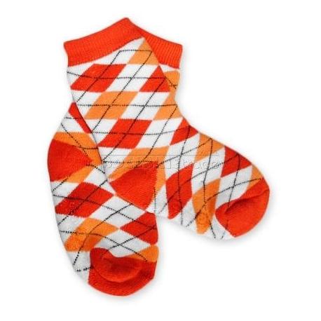 Bavlnené protišmykové froté ponožky 12m + - KARKO červené / oranž