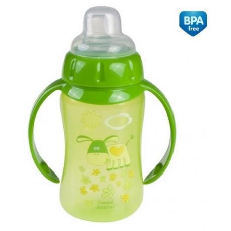 Tréningová hrnček / fľaštička s úchytmi 320ml - zelený s úchytkami