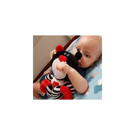 Závesná edukačná /plyšová hračka Méďa s melódiou - tyrkysová