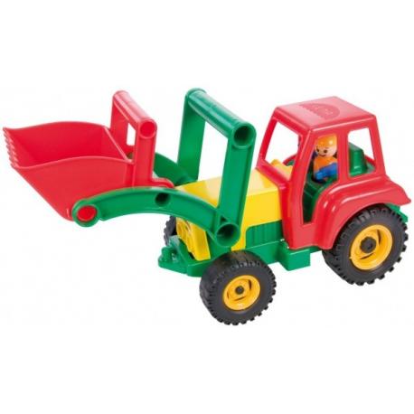 Auto traktor / nakladač aktívny s lyžicou plast 35cm od 24 mesiacov
