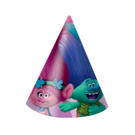 PROCOS klobúk papierový Trollovia - Trolls 6 ks