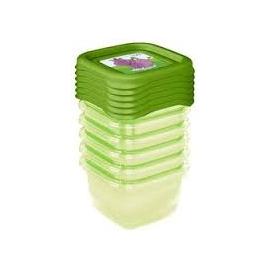 Súprava plastových škatuliek Hippo 0,5l - 5 ks