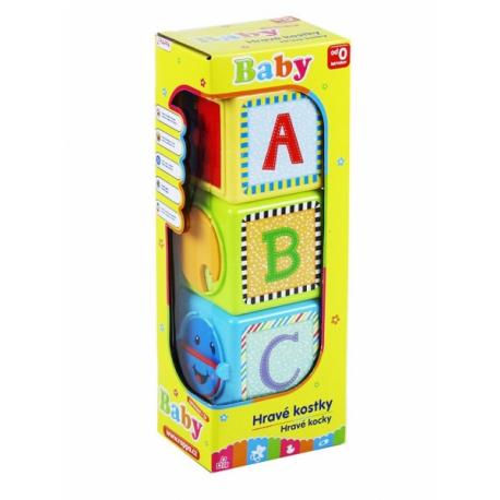 Farebné kocky naučné baby 3 ks
