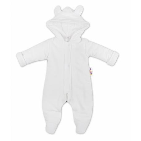 e25f17240 Oteplenie overal / kombinézka s kapucňu a uškami Baby Nellys ® - bielý