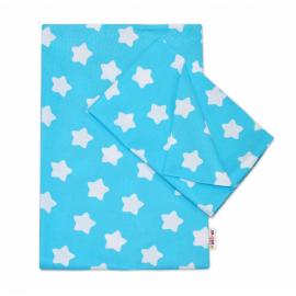 Bavlnené obliečky 140 x 200/70x90 - Sweet Stars - tyrkysová