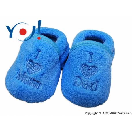 Topánočky / ponožtičky I LOVE - modré