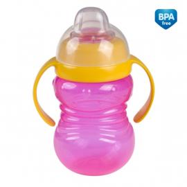Canpol Babies Športový hrnček s úchytkami - ružová / žltá