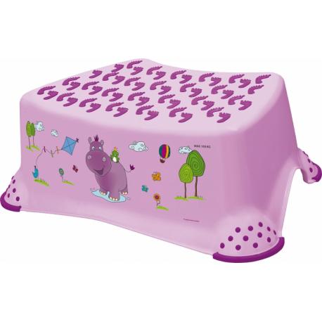 Stolička s protišmykovou funkciou - Hippo fialová