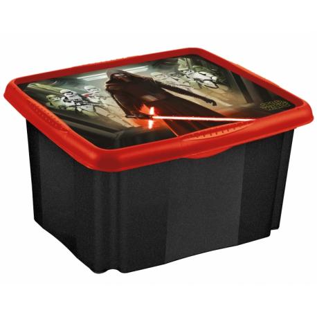 Box na hračky Star Wars 24 l - čierný