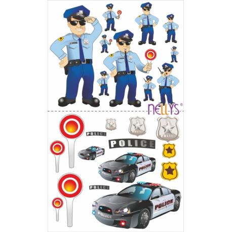 Nálepky, dekoracie na stenu 70x100 cm - Polícia