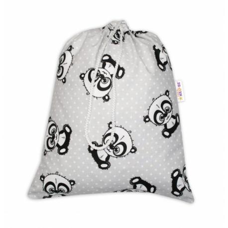 Vrecko na prezúvky Panda - šedý