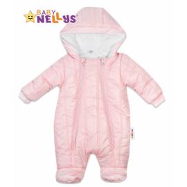 Kombinézka s kapucňu Lux Baby Nellys ®prošívaná - sv. růžová, veľ. 74