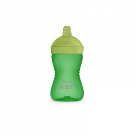 Netečúci hrnček 300 ml, tvrdý náustok - zelená