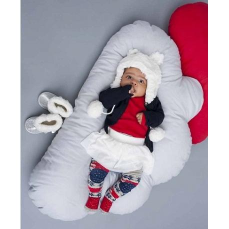Zimná čiapočka YO! na zavazovanie Ombre - marhuľová