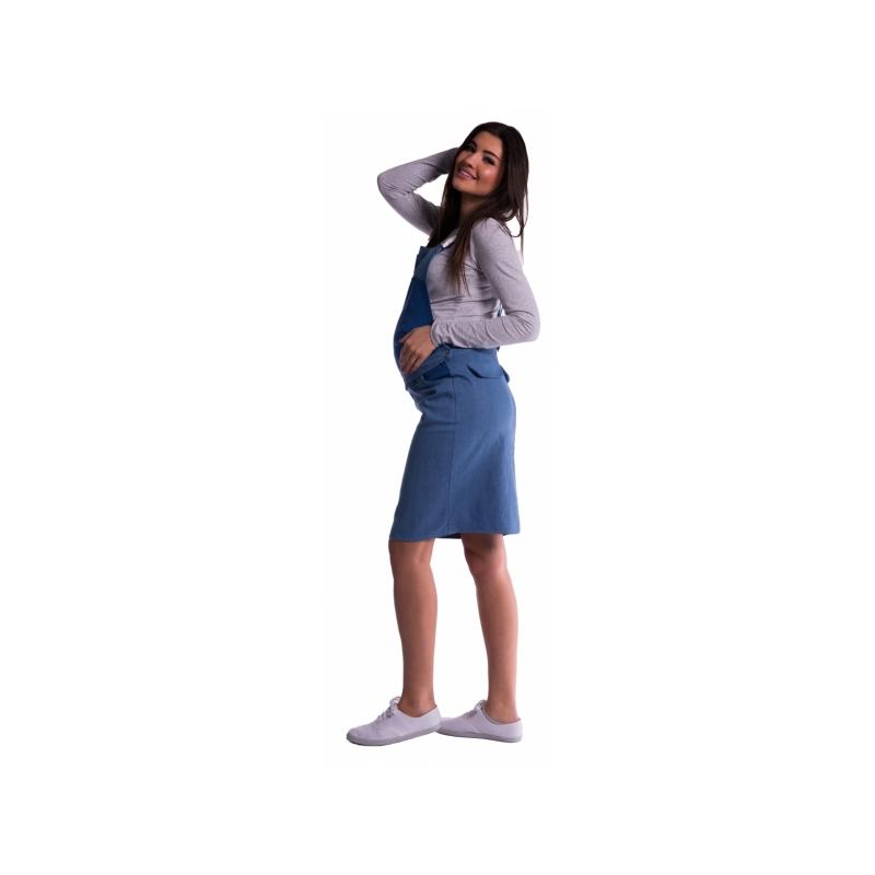 b8c6b01c731b Tehotenské šaty   sukne s trakmi - modré