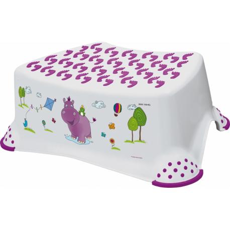 Stolička s protišmykovou funkciou - Hippo biela