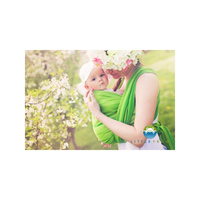 Little FROG Tkaný šatka na nosenie detí - BERYL f56402c900