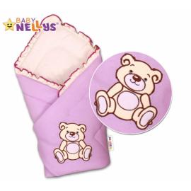 Zavinovačka Baby Nellys - Medvídek Teddy - jersey - lila