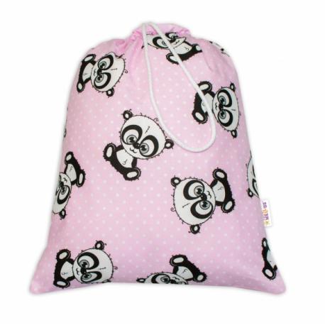 Vrecko na prezúvky Panda - ružový