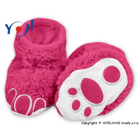 Topánočky / ponožtičky YO! MACKO - malina