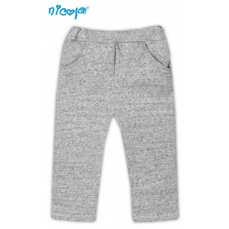 Tepláčky, nohavice Psík - sivé s vreckami, vel´. 68