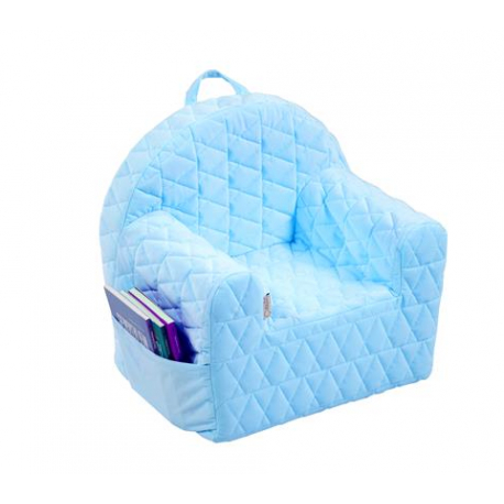 bafc0ce6700f Detské kresielko   pohovečka Velvet - sv. modré