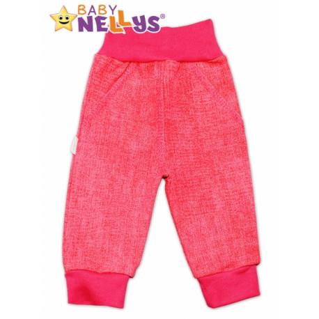 Bavlnené nohavice Baby Nellys ® - jeans - ružové