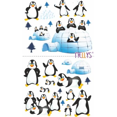Nálepky, dekoracie na stenu 70x100 cm - tučniaky