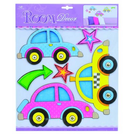 Detské priestorové samolepky na stenu - auta