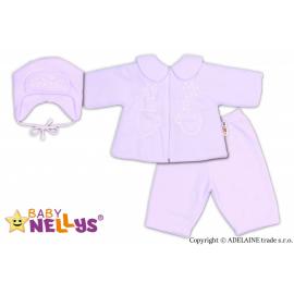 Kabátik, čiapočka a nohavice Baby Nellys ®- biela