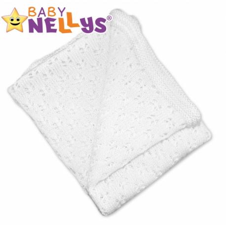 Háčkovaná dečka Baby Nellys ® - bielá