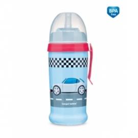 Športová nekvapkajúci fľaša Racing - tm. modrá