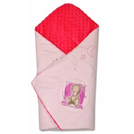 Zavinovačka, 75x75cm, bavlnená s Minky by Teddy - sv. ružová