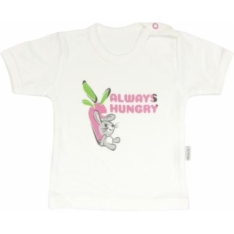 Bavlnené tričko Zajačik - krátky rukáv, roz. 80
