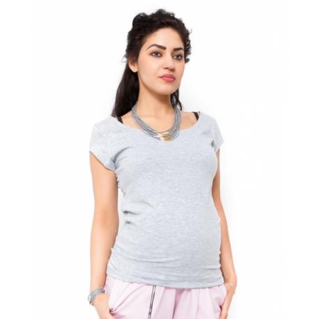 2c9694eb27 Tehotenské tričko blúzka Celina - svetlo sivá