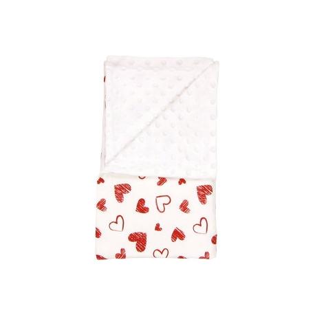 Detská deka, dečka Heart 80x90 - Minky, bavlna