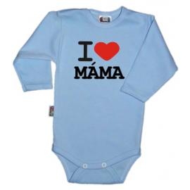 Body dl. rukáv Kolekcia I Love Mama, sv.modré, vel´. 80