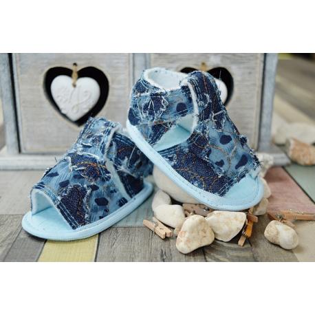 Jeansové capáčky /sandálky - modré