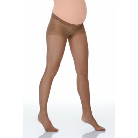Tehotenské silonky pod brůško - béžové, veľ. L