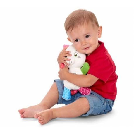 Kocourek Oliver s hrkálkou Chicco - smotanový