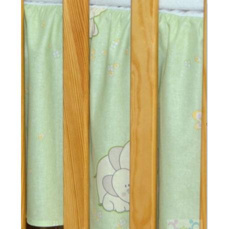 Krásny volánik pod matrac - Slon zelený