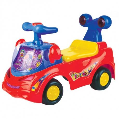 Odrážadlo, jezdítko - FUNNY CAR - červené
