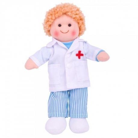 Látková bábika Lekár ADAM, 27cm