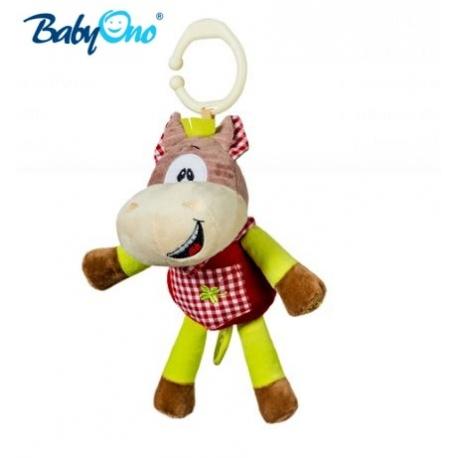 Hrkálka s klipsou a hracím strojčekom Baby Ono - KONÍČEK