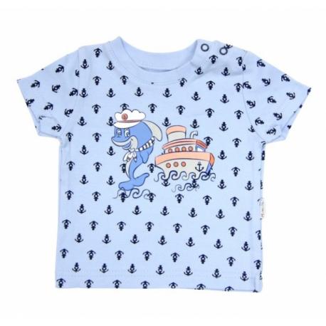 Tričko krátky rukáv Mamatti - Delfín kotvička